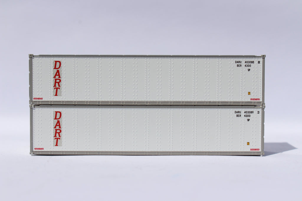 "Dart 40' Standard height (8'6"") Smooth-side containers. JTC # 405668"