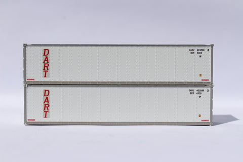 "405668 Dart 40' Standard height (8'6"") Smooth-side containers ."