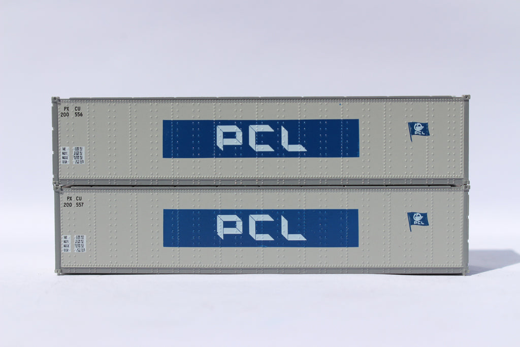 "PCL 40' Standard height (8'6"") Smooth-side containers. 405661"