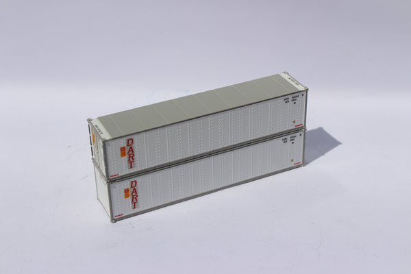 "OOCL / DART 40' Standard height (8'6"") Smooth-side containers. 405654"