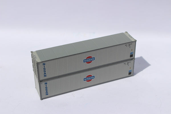 "NISSAN 40' Standard height (8'6"") Smooth-side containers. JTC # 405660"