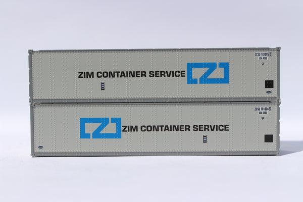 "ZIM 40' Standard height (8'6"") Smooth-side containers. 405664"