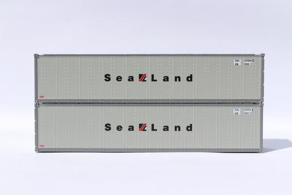 "SEALAND 40' Standard height (8'6"") Smooth-side containers . JTC # 405662"