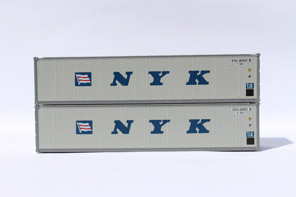 "NYK (Flag & initials) 40' Standard height (8'6"") Smooth-side containers. 405656"