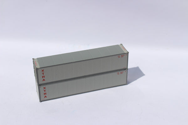 "XTRA LEASE 40' Standard height (8'6"") Smooth-side containers . JTC # 405663"