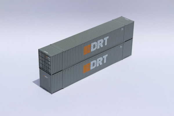 DRT Transportation 53' HIGH CUBE, 6-42-6 corrugated containers with Magnetic system, Corrugated-side. JTC #535030