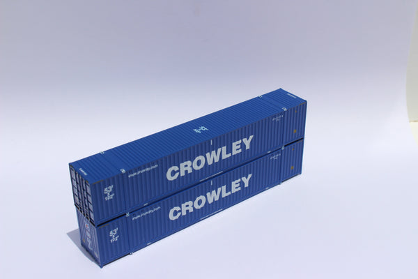 CROWLEY 53' HIGH CUBE, 6-42-6 corrugated containers with Magnetic system, Corrugated-side. JTC #535031