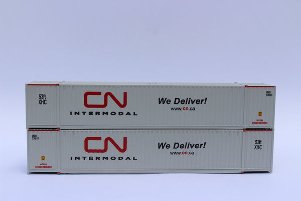 CN 'We Deliver' 53' HIGH CUBE 6-42-6 corrugated containers with Magnetic system, Corrugated-side. JTC #535001