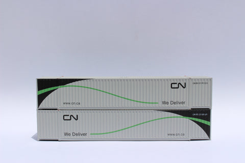 CN  'Green wave' scheme 53' HIGH CUBE, 6-42-6 corrugated containers with Magnetic system, Corrugated-side. JTC #535044