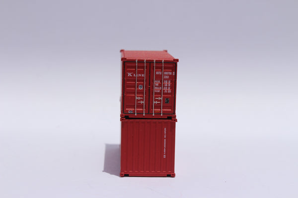 K-LINE 20' Std. height containers with Magnetic system, Corrugated-side. JTC-205311