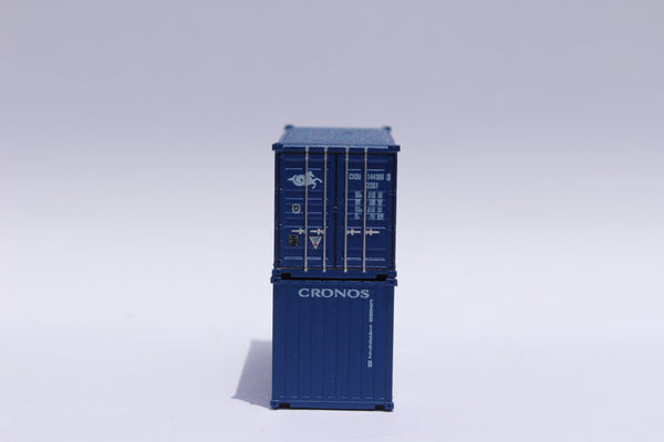 CRONOS (blue) 20' Std. height containers with Magnetic system, Corrugated-side. JTC-205316