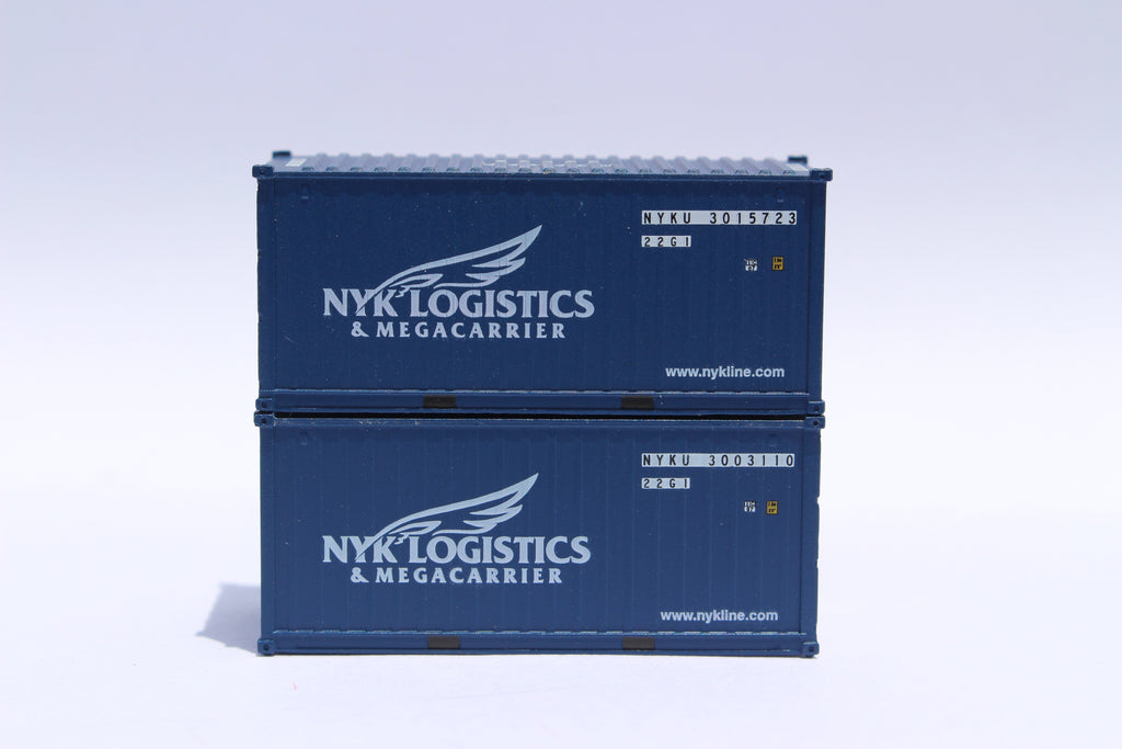 NYK Logistics 'Megacarrier' 20' Std. height containers with Magnetic system, Corrugated-side. JTC-205314