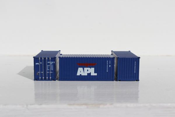 APL 20' (set #2) Std. height containers with Magnetic system, Corrugated-side. JTC-205368