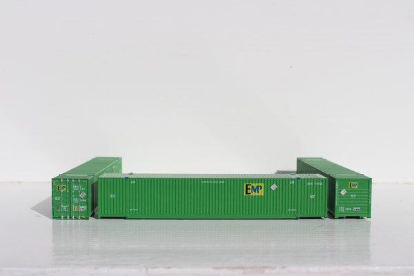 EMP - UP  53' HIGH CUBE 8-55-8 corrugated containers with stackable Magnetic system. JTC # 537053