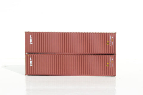 TEX; TGBU– 40' HIGH CUBE containers with Magnetic system, Corrugated-side. JTC # 405035