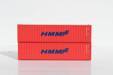 HMM (blue on Orange) – 40' HIGH CUBE containers with Magnetic system, Corrugated-side. JTC # 405077