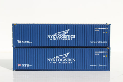 NYK LOGITICS– 40' HIGH CUBE containers with Magnetic system, Corrugated-side. JTC # 405014