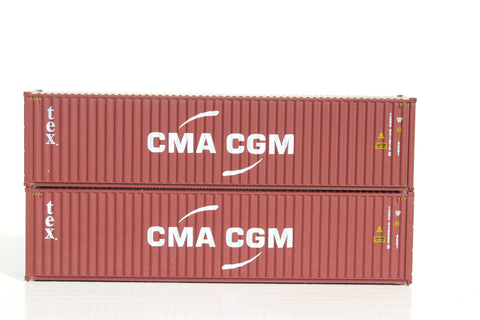 TEX /  CMA– 40' HIGH CUBE containers with Magnetic system, Corrugated-side. JTC # 405095