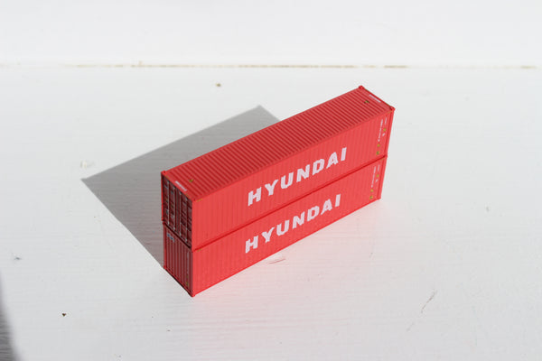 HYUNDIA– 40' HIGH CUBE containers with Magnetic system, Corrugated-side. JTC # 405020