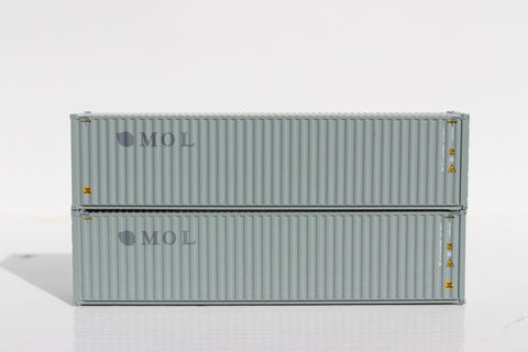 TRANSAMERICA TRLU-ex-MOL Patch– 40' HIGH CUBE containers with Magnetic system, Corrugated-side. JTC # 405028