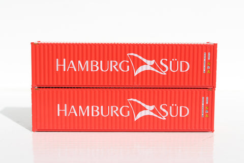 Hamburg Sud– 40' HIGH CUBE containers with Magnetic system, Corrugated-side. JTC # 405047