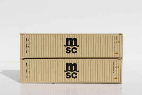 MSC MEDU (beige)– 40' HIGH CUBE containers with Magnetic system, Corrugated-side. JTC # 405080