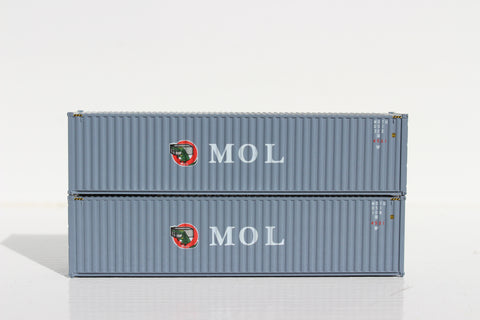 MOL GRAY-W/ GATOR logo– 40' HIGH CUBE containers with Magnetic system, Corrugated-side. JTC # 405050