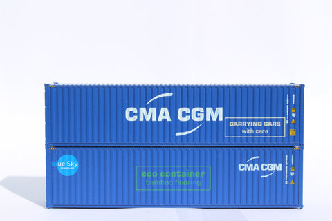 405090M CMA CGM MIX PACK A - 40' HIGH CUBE containers with Magnetic system, Corrugated-side. JTC# 405090M