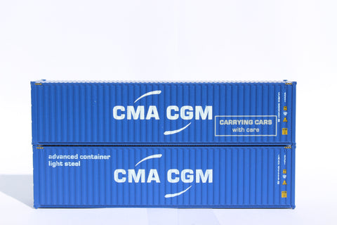 CMA CGM MIX PACK B - 40' HIGH CUBE containers with Magnetic system, Corrugated-side. JTC# 405092M
