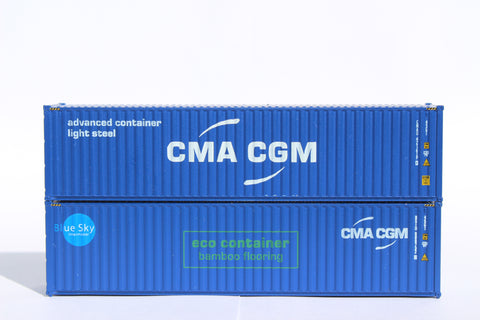 405089M CMA CGM MIX PACK C - 40' HIGH CUBE containers with Magnetic system, Corrugated-side. JTC# 405089M
