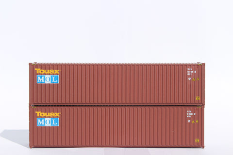 TOUAX / MOL– 40' HIGH CUBE containers with Magnetic system, Corrugated-side. JTC # 405078