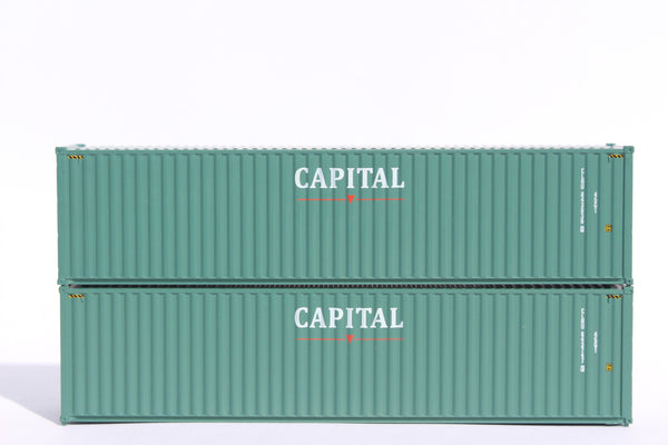 CAPITAL– 40' HIGH CUBE containers with Magnetic system, Corrugated-side. JTC # 405017