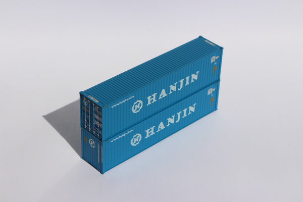HANJIN– 40' HIGH CUBE containers with Magnetic system, Corrugated-side. JTC # 405012