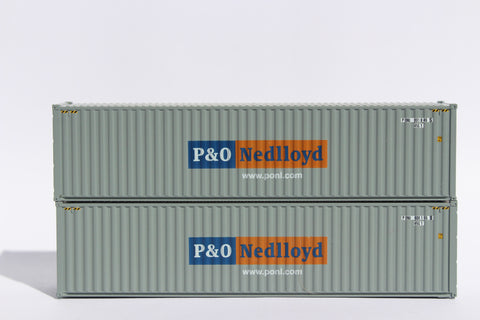 P&O Nedlloyd (gray)– 40' HIGH CUBE containers with Magnetic system, Corrugated-side. JTC # 405009