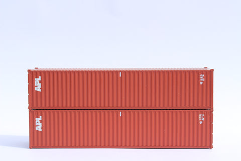 "APL (brown) JTC # 405302 APL 40' Standard height (8'6"") corrugated side steel containers"
