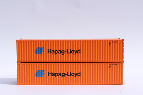 "HAPAG LlOYD (small logo)- JTC # 405325 40' Standard height (8'6"") corrugated side steel containers"
