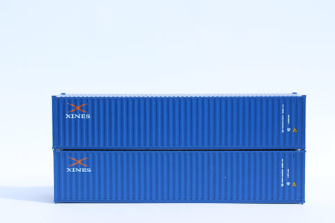 "XINES LIMITED JTC # 405303 40' Standard height (8'6"") corrugated side steel containers"