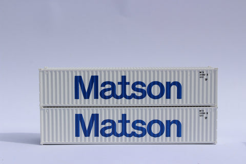 "MATSON - JTC # 405310 40' Standard height (8'6"") corrugated side steel containers"
