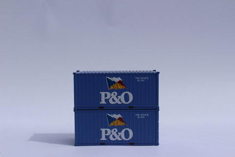 P&O (flag) 20' Std. height containers with Magnetic system, Corrugated-side. JTC-205329