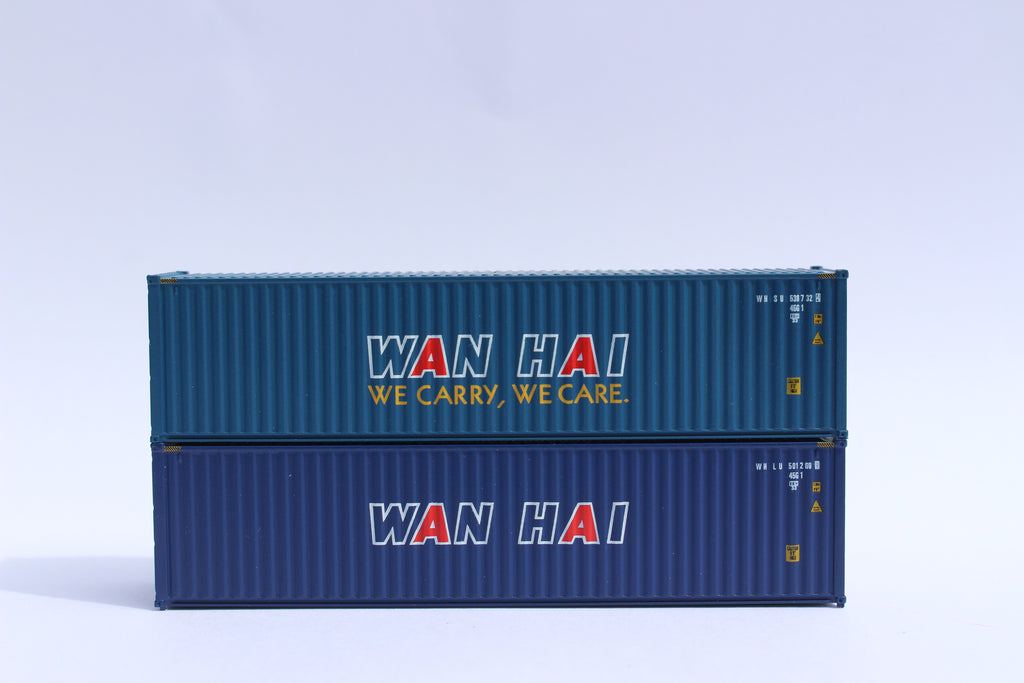 WAN HAI – 40' HIGH CUBE containers with Magnetic system, Corrugated-side. JTC # 405054