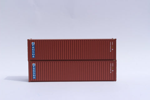 CRONOS (brown)– 40' HIGH CUBE containers with Magnetic system, Corrugated-side. JTC # 405016