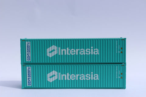 DONG FANG / INTERASIA 40' HIGH CUBE containers with Magnetic system, Corrugated-side. JTC # 405038