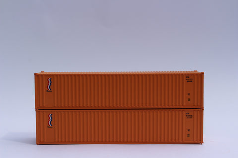 "SEA CONTAINERS - JTC # 405509 40' Standard height (8'6"") corrugated PANEL side steel containers"