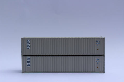 "SCS (Scandinavian Cargo Sea) - JTC # 405512 40' Standard height (8'6"") corrugated PANEL side steel containers"
