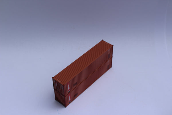 "TRANSAMERICA - 40' Std. height (8'6"") corrugated panel side containers, Multiple patches), JTC 405510"