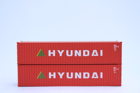 "HYUNDAI- JTC # 405323 40' Standard height (8'6"") corrugated side steel containers"