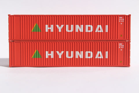 HYUNDAI (early) 40' Std. Height 2-P-44-P-2 'Square Corrugated' side containers JTC # 405557