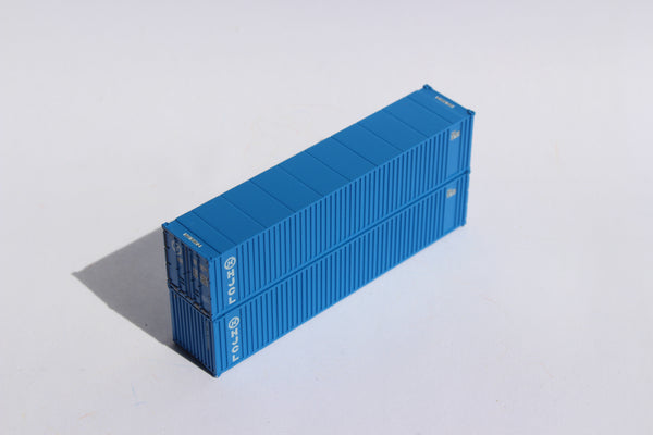 HANJIN (early) 40' Std. Height 2-P-44-P-2 'Square Corrugated' side containers JTC # 405555