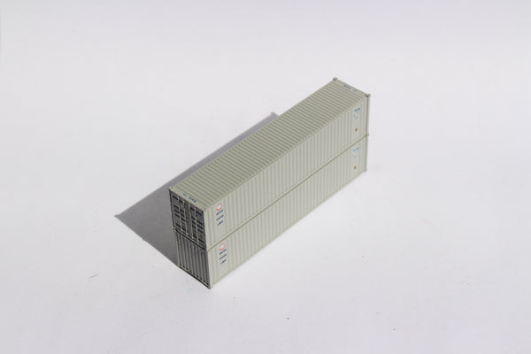 "US LINES - JTC # 405507 40' Standard height (8'6"") corrugated PANEL side steel containers"