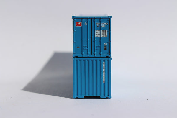 CHO YANG 40' Std. Height 2-P-44-P-2 'Square Corrugated' side containers JTC # 405553